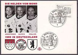 (3) Gedenkkarte Die Helden Vom Mond 1969 (G-1-93) - Berlin (West)