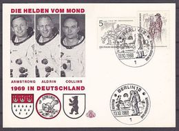 (4) Gedenkkarte Die Helden Vom Mond 1969 (G-1-94) - Berlin (West)