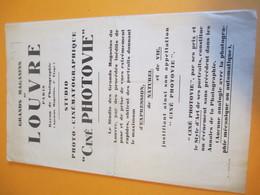 Photographie/Dépliant Publicitaire à 3 Volets/Studio Ciné Photovie/Grands Magasins Du LOUVRE/Paris/1929  PHOTN289 - Photography