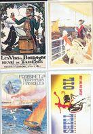 4 Anciennes Pubs Vins De Bourgogne Nuits-St-Georges - Marseille - Shell Série 6 - Publicidad