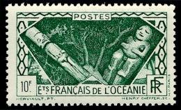 OCEANIE (Ets Fr.) 1934 - Yv. 119 **   Cote= 3,90 EUR - Tikis Polynésiens 10f  ..Réf.AFA22895 - Ozeanien (1892-1958)