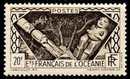 OCEANIE (Ets Fr.) 1934 - Yv. 120 **   Cote= 4,30 EUR - Tikis Polynésiens 20f  ..Réf.AFA22897 - Ozeanien (1892-1958)