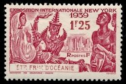OCEANIE (Ets Fr.) 1939 - Yv. 128 *   Cote= 2,60 EUR - Expo Intern. De New-York 1f25  ..Réf.AFA22901 - Ongebruikt