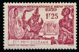OCEANIE (Ets Fr.) 1939 - Yv. 128 **   Cote= 3,00 EUR - Expo Intern. De New-York 1f25  ..Réf.AFA22902 - Ozeanien (1892-1958)