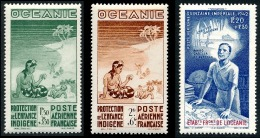 OCEANIE (Ets Fr.) 1942 - Yv. PA 4  5 Et 6 **   Cote= 5,50 EUR - Protection Enfance & Quinzaine Impériale  ..Réf.AFA2 - Oceania (1892-1958)