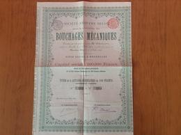 Ancienne Action Bouchages Mécaniques 1896 - Industrie