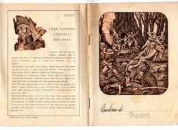 S6306 QUADERNO SERIE PETER PAN A QUADRETTI USATO ILLUSTRATORE G. MATTONI - Vecchi Documenti