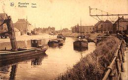 Roeselare Roulers - Vaart Canal (animée, Batellerie, Péniche, 1934, De Brauwer Roelens) - Roeselare