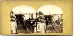 Photos  Stéréoscopiques Albuminées - Paris - Le Pantheon  Et  Avenue - Fotos Estereoscópicas