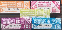 Bus Tickets Sarajevo City Bus Bosnia And Herzegovina 5 Different - Bus