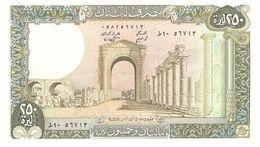 LEBANON 250 LIVRES 1985 PICK 67c UNC - Libano