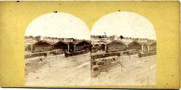 Photos  Stéréoscopiques Albuminées - Paris - Ancienne  Gare   Bastille - Stereoscopio