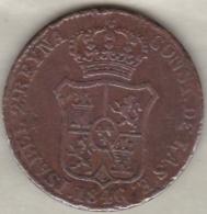 Espagne  Catalogne , 3 Quartos 1846 . Isabel II. KM# 126 - Monnaies Provinciales