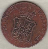 Espagne  Catalogne , 3 Quartos 1845 . Isabel II. KM# 126 - Monnaies Provinciales