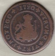 Espagne , 4 Maravedis 1720 B Barcelona . Felipe V .  KM# 303 - [ 1] …-1931 : Royaume