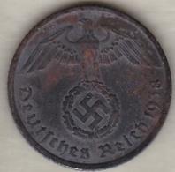 10 Reichspfennig 1938 G (KARLSRUHE)  Bronze-aluminium - [ 4] 1933-1945: Derde Rijk