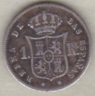 Espagne, 1 Real 1853 (* à 6 Branches).  Isabel II . Argent. KM# 598.2 - [ 1] …-1931 : Royaume