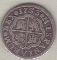 Espagne, 1 Real 1753 PJ . Fernando VI . Argent. KM# 369.2 - [ 1] …-1931 : Royaume