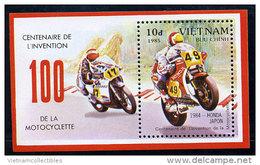 Vietnam Viet Nam MNH Perf Souvenir Sheet 1985 : Centenary Of Motorbike (Ms467B) - Vietnam