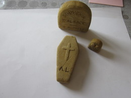 PIERRE TOMBALE CERCEUIL 1 MAI 1939 /PIERRE TAILLEE /PIECE UNIQUE/SOUVENIR D ALSACE SARREBOURG REDING DIEMERINGEN - 1939-45