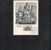 Carte Maximum Saint Yves De Treguier 1956 - Cartes-Maximum