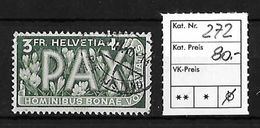 1945 PAX GEDENKAUSGABE ZUM WAFFENSTILLSTAND → SBK-272 - Suisse