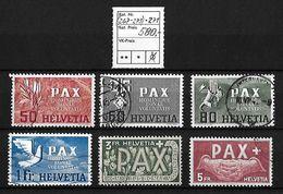 1945 PAX GEDENKAUSGABE ZUM WAFFENSTILLSTAND → SBK-(267-273)-271 - Suisse