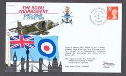 RAF Royal Tournament Flown Harrier GR5 Commemorative Cover 1989 - Airplanes