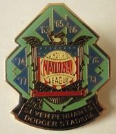 Pin 1984 DODGER Baseball STADIUM - Button Badge Lapel - Seven Pennants Sport - Baseball