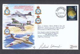 RAF 40th Anniversary Of Canberra Flown Commemorative Cover 1989 - Militaria