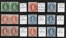 1882 - 1906 STEHENDE HELVETIA Gezähnt → En Bloc ! Selten So Angeboten ►SBK 2018 CHF 840.-◄ - 1882-1906 Wappen, Stehende Helvetia & UPU