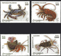 Somalia, 1998, Crustaceans, Animals, Fauna, MNH, Michel 705-708 - Somalie (1960-...)
