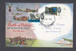RAF GB FDC Battle Of Britain WW2 1940 25th Anniversary 1965 - Airplanes