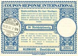 DT 419 -- ALLEMAGNE Coupon Réponse International ( IRC) 30 Pfg - BERLIN 1937 - Germany