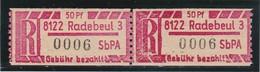 DDR, Dienst: Einschreibemarke, SbPÄ, Ax 8122-3 Radebeul (T 2653) - Official