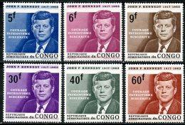 Rep Congo   567 - 572   XX   ---    MNH   --  Kennedy  -  TTB - République Démocratique Du Congo (1964-71)