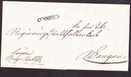 Faltbrief Mit Stab-Stempel GÜMMINEN Vom 6.Nov.1837 An Das Regierungsstatthalteramt In Wangen - Switzerland