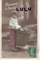 ENFANTS N° 263 : Garçon Panière Poisson 1er Avril  : édit. D L 107 - Enfants