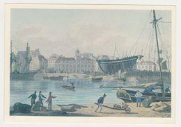 26423 Le Havre Bassin Roy Arsenal Marine -Gravure Gouache Luttringhausen Et Fielding Thales - Le Havre
