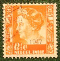 12 1/2 Ct Overprint Koningin Wilhelmina NVPH 326 1947 Gestempeld / Used NEDERLAND INDIE / DUTCH INDIES - India Holandeses