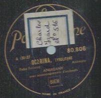 "78 Tours - M. ANDREANY  - PARLOPHONE 80806  "" OCARINA "" + "" LA FERME "" - 78 Rpm - Gramophone Records"