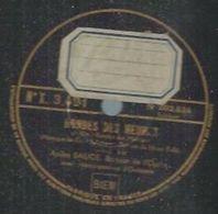 """78 Tours - ANDRE BAUGE  - PATHE 3491   """" RONDES DES HEURES """" + """" LE JARDIN DU SOUVENIR """" - 78 Rpm - Gramophone Records"""