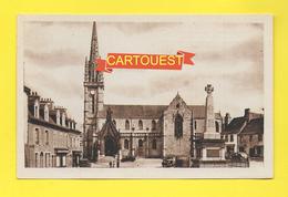 CPA 29 LANDIVISIAU Place De L Eglise ( Auto ) - Landivisiau