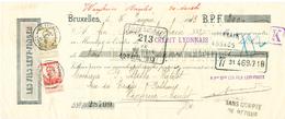 ZZ270 -- JUDAICA Belgium - Mandat TP Pellens Perforés C.L. BRUXELLES 1913 - Entete Les Fils LEVY - FINGER - Perfins