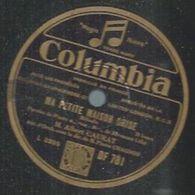 """78 Tours - ALBERT CAURAT  - COLUMBIA 781   """" MA PETITE MAISON GRISE """" + """" SI J'ETAIS UN RAYON DE LUNE """" - 78 Rpm - Gramophone Records"""