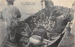56-QUIBERON- TRIAGE ET COMPLAGE DE LA SARDINE - Quiberon