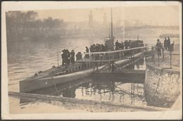 Le Sous-Marin Montgolfier à Paris, 1918 - Photo CPA - Submarines