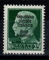 Base Navale Italienne De Bordeaux YV 10 N** MNH Cote 25 Euros - Guerras