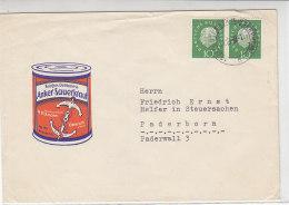 Brief Mit Sauerkraut-Reklame (Ankersauerkraut) Aus Osterath Nach Paderborn - Briefe U. Dokumente