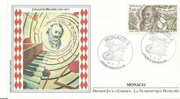 Lettre 1er Jour Monaco1983  Johannes Brahms 18831897 - Lettres & Documents